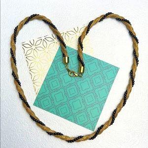 ⚜️Je❤️Vintage ⚜️ goldplated black beads necklace